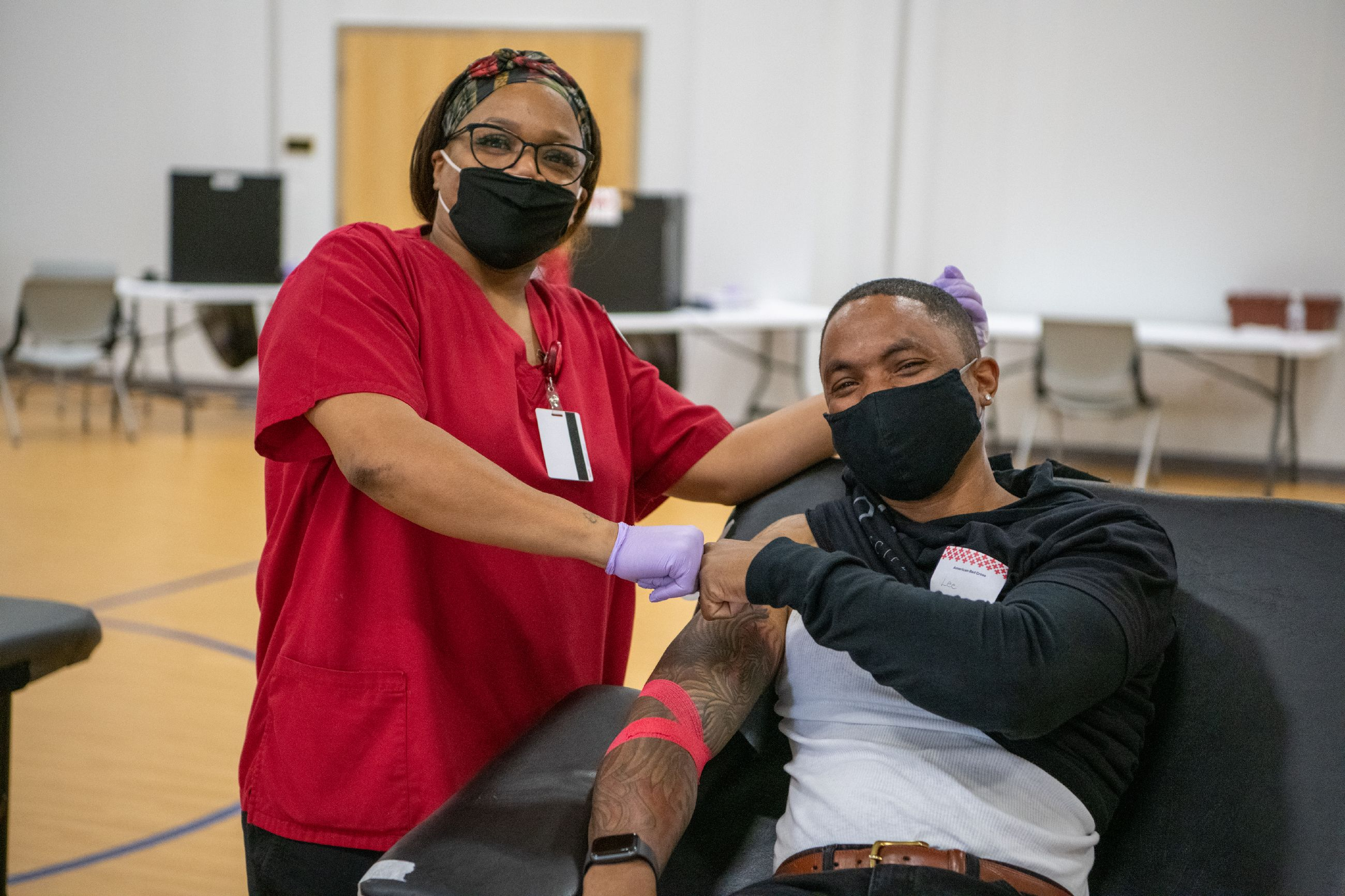 November 22, 2020. Portsmouth, Virginia. Grove Church Blood Drive 2020. Photos by Jared Beasley/American Red Cross