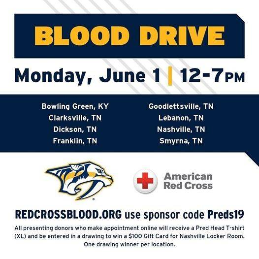 nashville predators team up with red cross to host multi city blood drive nashville predators team up with red