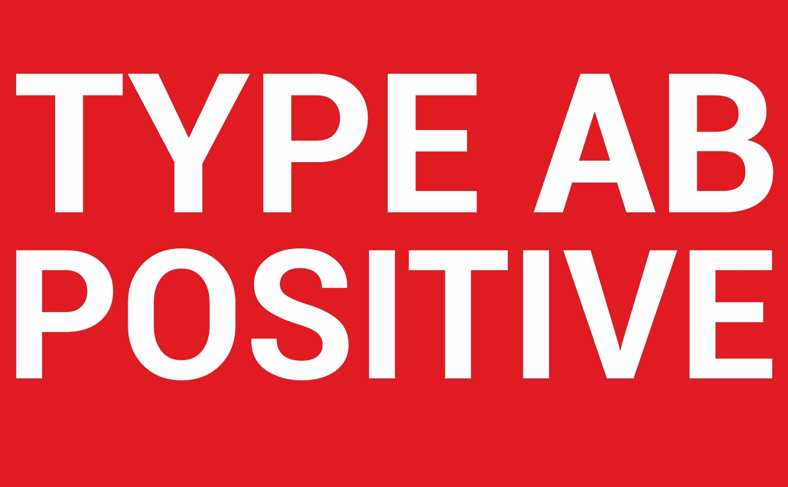 ab positive  ab negative blood