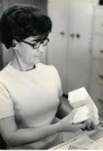 Minnie Burnett in 1972 when she began donating blood.
